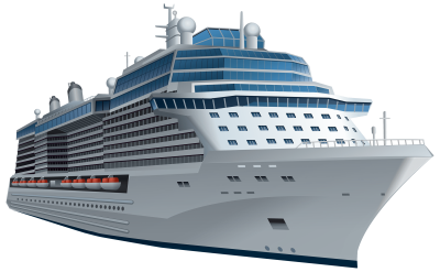 white-cruise-ship