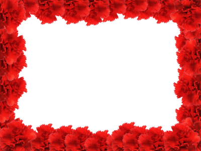 Red Flower Frame PNG Free Download