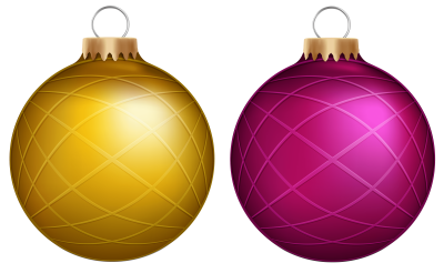 yellow-and-pink-christmas-balls