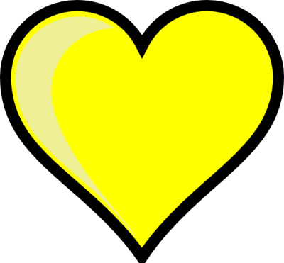 Yellow Heart Hd