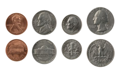 Penny Nickel Dime Quarter Png