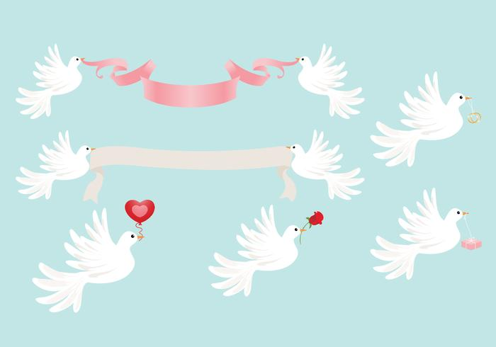 Download Free png Wedding Dove PSD and PNG Pack Free