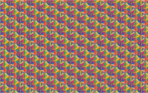 Seamless Hexagonal Diamonds Pattern 5