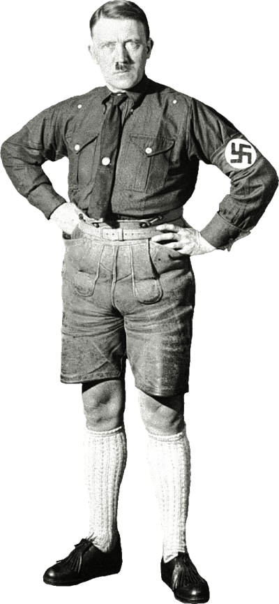 hitler-with-shorts