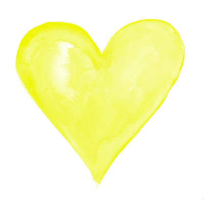 Yellow Heart Transparent