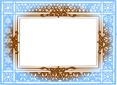 Brown Border Frame PNG File