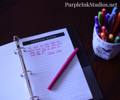 the reader's notebook Archives | Purple Ink Studios