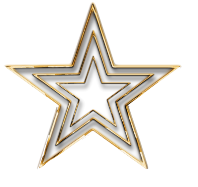3D Gold Star Transparent