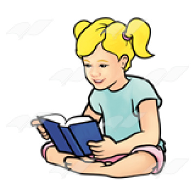Abeka | Clip Art | Girl Reading