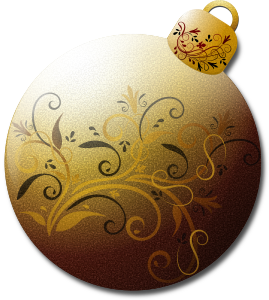 Gold Glass Ornament 2