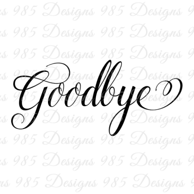 Goodbye Script Word SVG for Cricut and by 985 Graphic Designs on