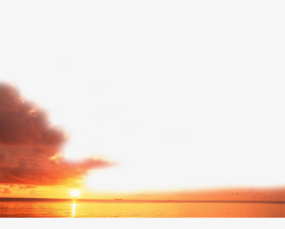 Sunset On The Sea, Sunset Clipart, Sea Clipart, Xianyun PNG Image ...
