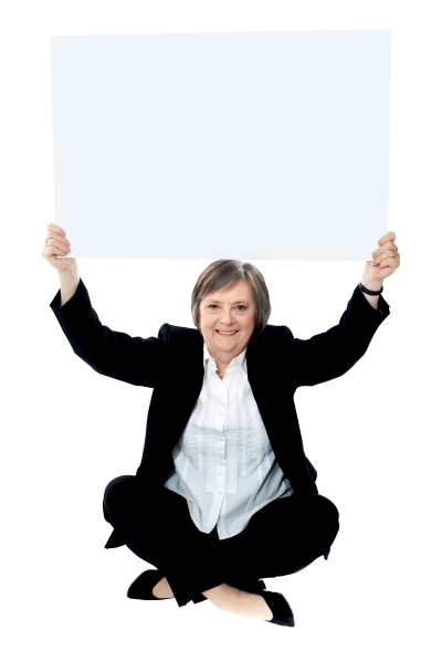 business-women-holding-banner
