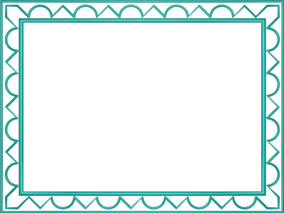 Aqua Border Frame Transparent Background