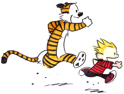 Calvin And Hobbes Clipart