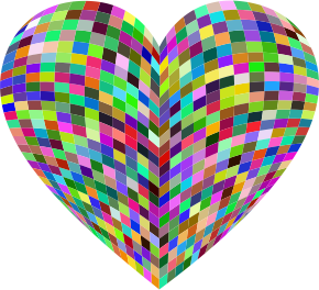 3D Prismatic Grid Heart