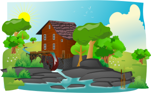 Watermill in lanscape