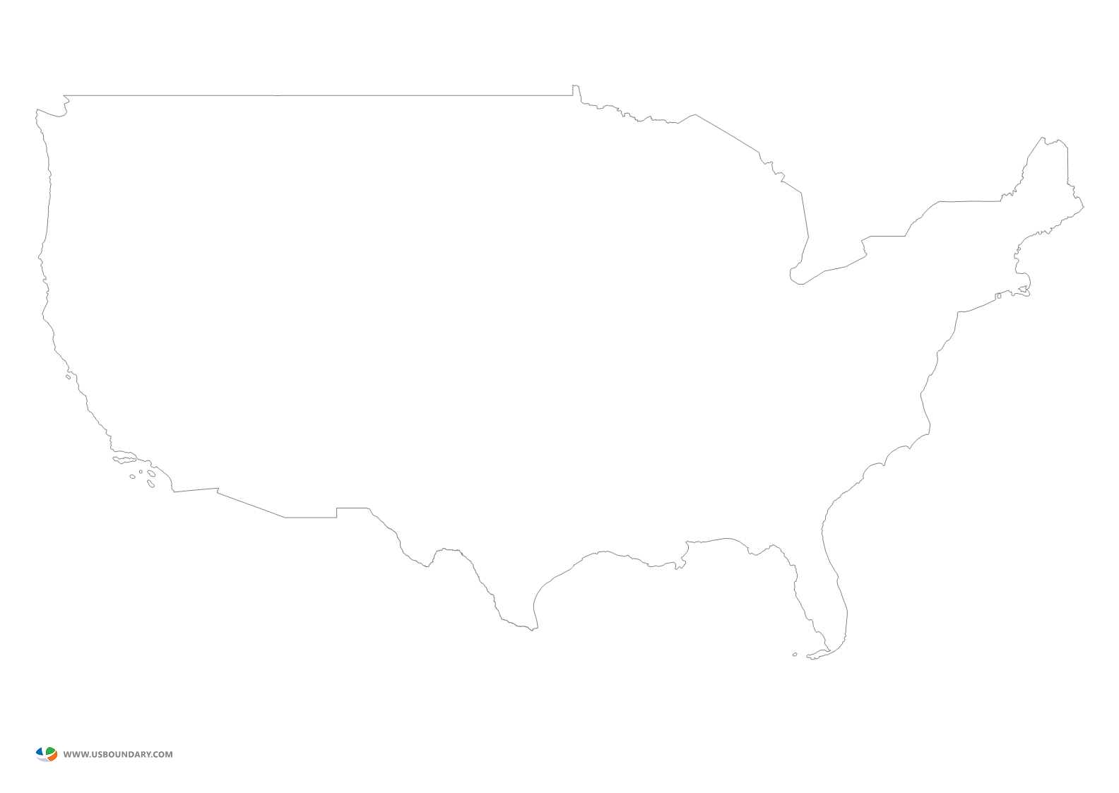 Download Free png United States State Map Blank Vishawa ...