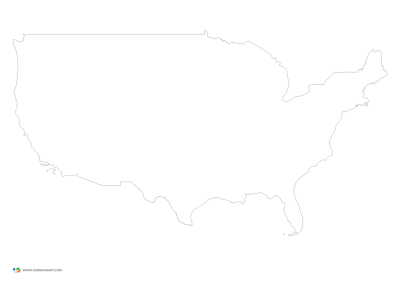 United States State Map Blank Vishawa Communications And Usa Outline ...
