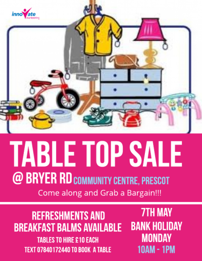 Table Top Sale at Bryer Road on 7th May Bank Holiday Monday from 10 ...