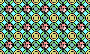 Leaded glass background