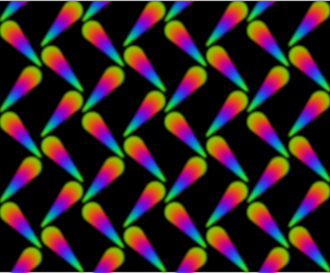 Colourful pattern (black background)