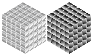 Isometric Metallic Cubes