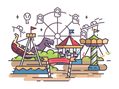 Amusement Park PNG Photo
