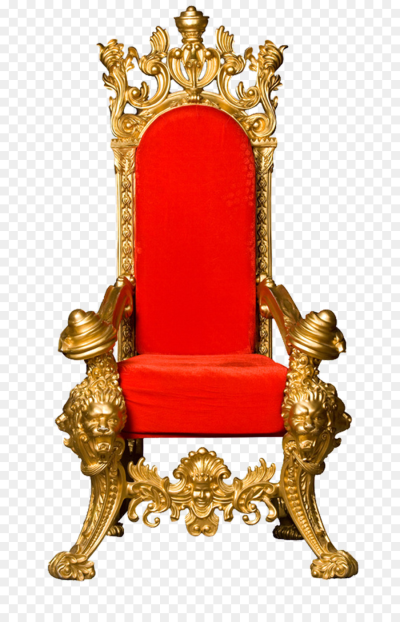 Throne King Chair Clip art   Red back gold frame kingdom png ...