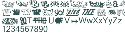 Hip Hop Fonts Transparent PNG