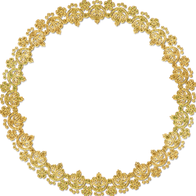 Gold Flower Frame Free Download
