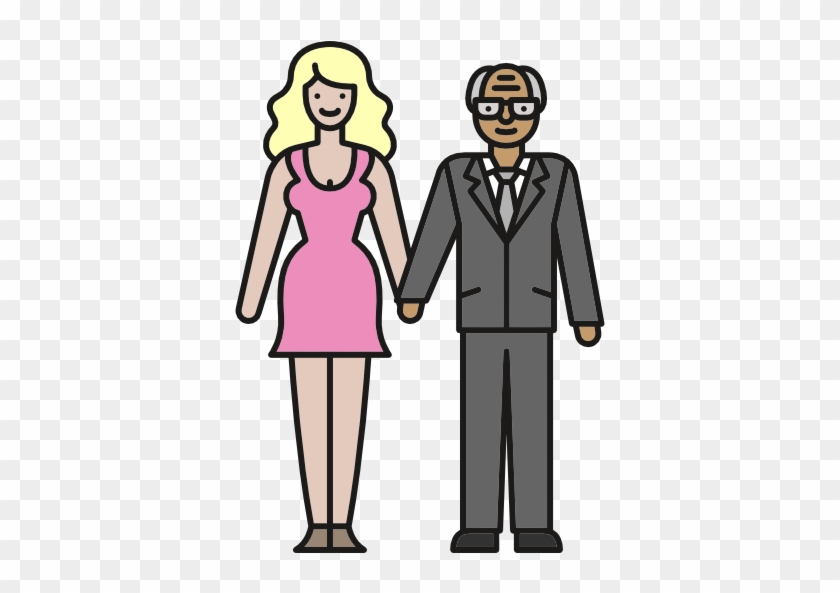 28 Collection Of Young People Clipart Png - Old Man And Young Woman ...
