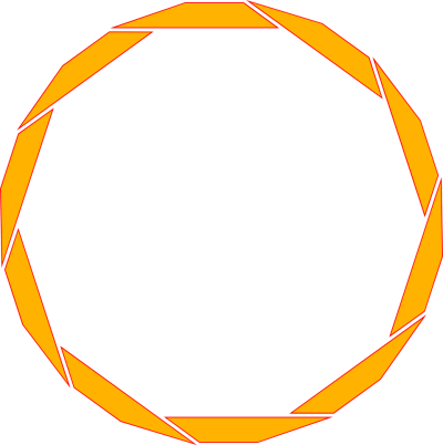 orange border frame