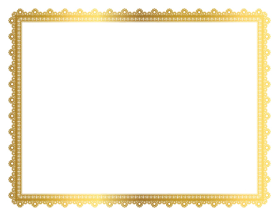 Gold Border Frame PNG Transparent Picture