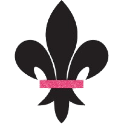 black-fleur-de-lis-with-pink-detail