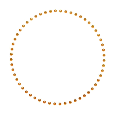 Golden Round Frame PNG File