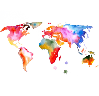 Abstract World Map Free Transparent Image HQ