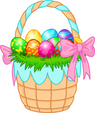 Easter Basket Bunny Transparent