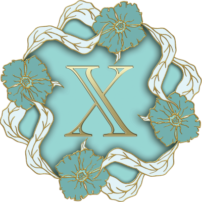 flower-theme-capital-letter-x