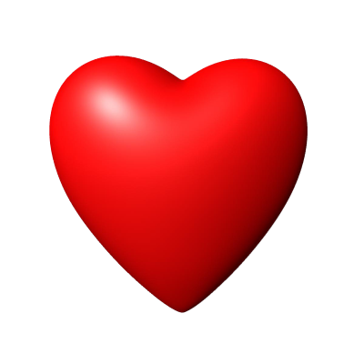 3D Red Heart Image