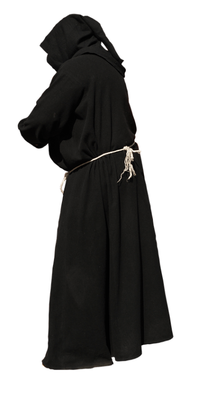 monk-black-gown-hands-not-visible