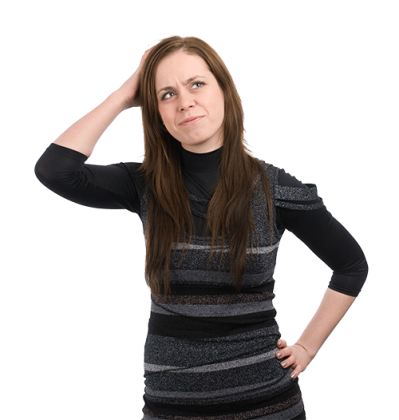 Thinking Woman PNG File