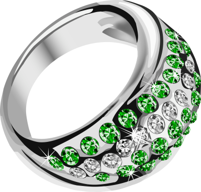 silver-ring-with-green-diamond
