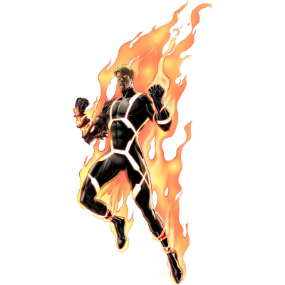 Human Torch Transparent Background