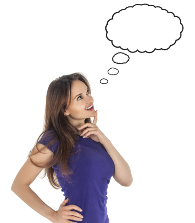 Thinking Woman Transparent Background
