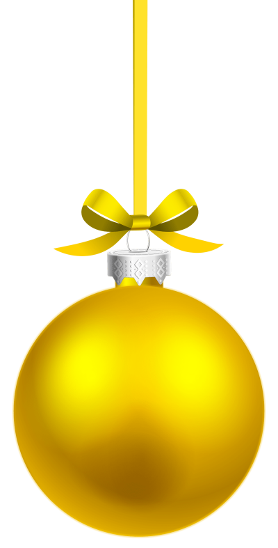 yellow-hanging-christmas-ball
