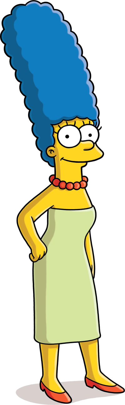 Marge-background-Simpsons-transparent-Simpson
