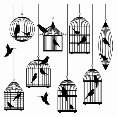 Caged Bird Free Transparent Image HQ