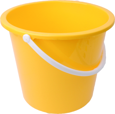 Plastic Yellow Bucket Png Image Download