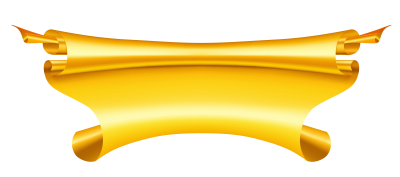 Golden Ribbon PNG Free Photo